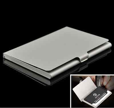 Hot Metal Stainless Steel Pocket Business Name Credit Id Card Holder Case Box