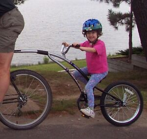 Trail-A-Bike attachment for young rider