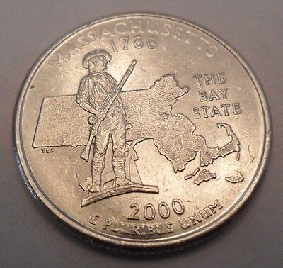 2000 P MASSACHUSETTS MA STATE QUARTER