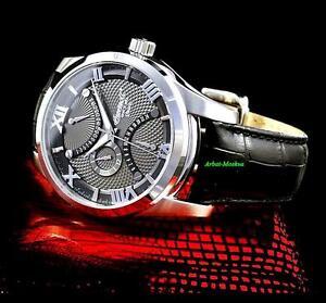 Ingersoll Men's Burlington Collection Dual Time Quartz Leather Strap Watch