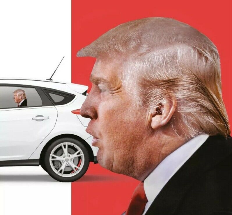 Ride Along with Donald Trump- Funny Car Decal
