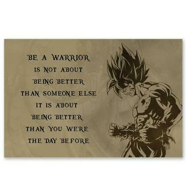 Dragon Ball Z Quotes (​Dragon Ball Super Z Poster - Be A Warrior Motivational Quotes Poster)