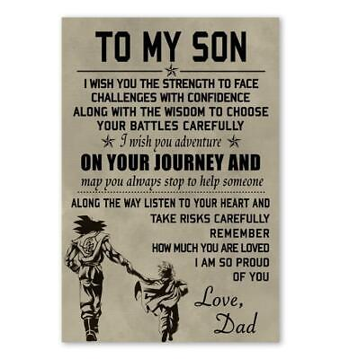 Dragon Ball Z Quotes (Dragon Ball Z Father And Son Poster - Goku Poster Canvas Motivation)