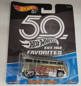 Hot Wheels 50th Anniversary VW Volkswagen T1 Drag Bus