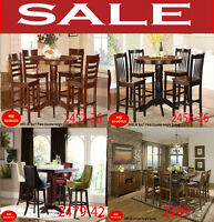 dining sets, dinette sets, counter height table, table bar, mvqc