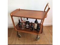 Vintage Mid Century Teak Drinks Trolley 🥂🍹🍷🍻🍸