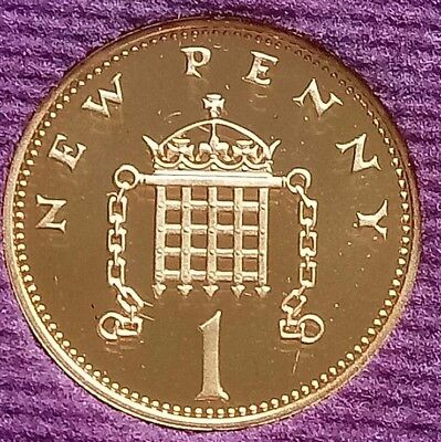 1980 PROOF One Pence  Royal Mint 1p Penny