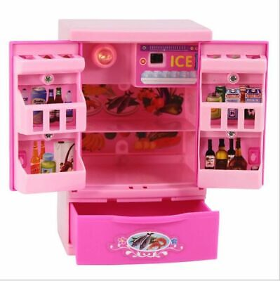 Food Play Set Mini For Barbar Doll Dream House Kitchen Refrigerator Accessories