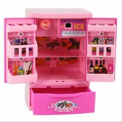 Food Play Set Mini for Barbie Doll Dream House Kitchen Refrigerator Accessories