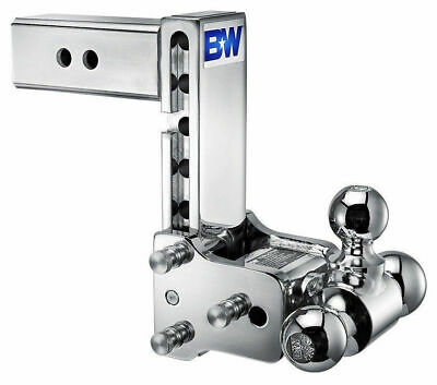 "B&W TS20049C Tow & Stow 2.5 Inch Shank Tri-Ball Hitch Ball Mount 7"" Inch Drop for sale  Twin Lake"