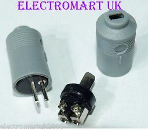 2 X 2 PIN SPEAKER DIN PLUGS MALE HI-FI CONNECTORS EASY FIT SCREW TERMINALS