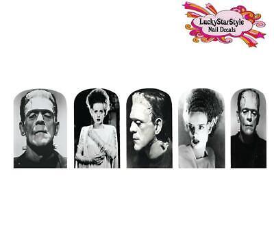 Halloween Monster Nails (Waterslide Full Nail Decals Set of 10 - Halloween Monster Frankenstein &)