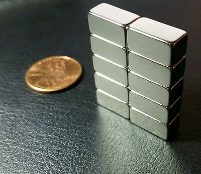 10 Neodymium Magnets N52 Grade Super Strong Rare Earth Block 12 X 14 X 14