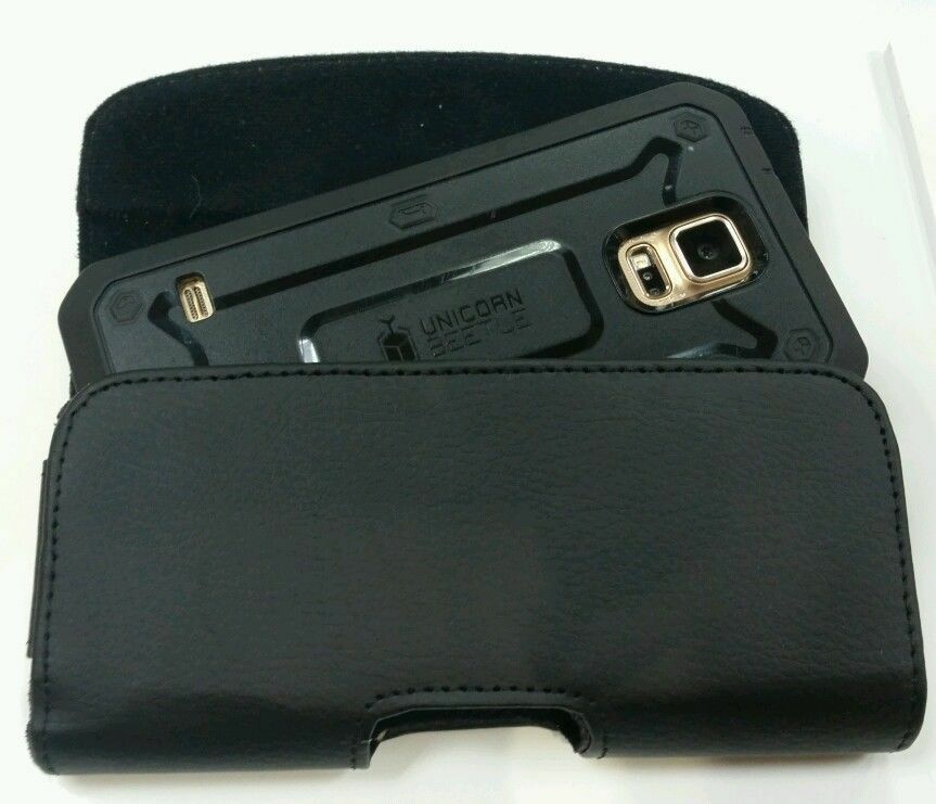 FOR EXTRA LARGE CELL PHONE LEATHER BELT CLIP BELT HOLSTER FI
