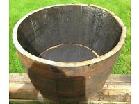 OAK HALF WHISKY BARREL TUBS £20 EACH