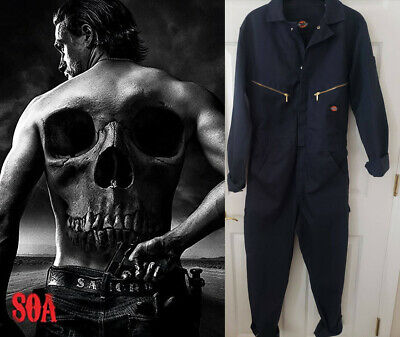 SOA Sons of Anarchy - Jax/Charlie Hunnam Jumpsuit Coverall w/Studio COA