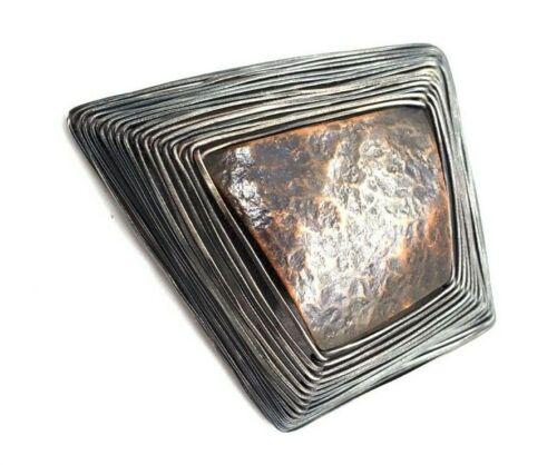 "BIG 3"" Vtg Modernist BIBA SCHUTZ Sterling Silver WIRE Pin Brooch NEEDS REPAIR"