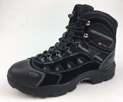 Hi-Tec Bandera Winter 200 Wp Mens Black Leather Hiking Lace Up Boots Size 9 068