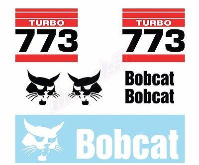 Bobcat 773 Turbo Skid Steer Set Vinyl Decal Sticker Aftermarket