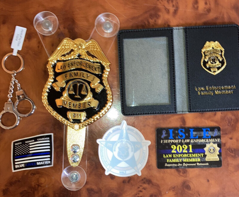 Police Car Windshield badge family Member package