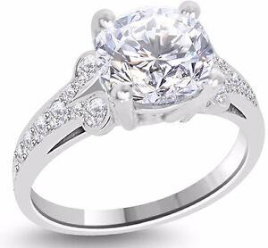CERTIFIED 2.54 CT K S1 ROUND DIAMOND ENGAGEMENT RING 14K WHITE