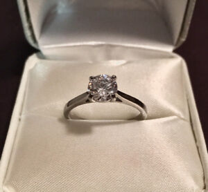 1ct diamond cathedral ring
