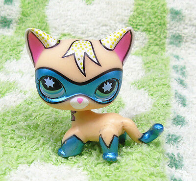 Littlest Pet Research Comic Con Masked Superhero Shorthair Kitty Cat K689