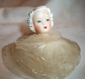 Vintage Porcelain & Crinoline  Angle Christmas Tree Ornament