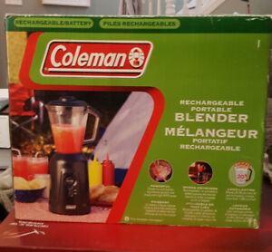 NEW NEVER USED COLEMAN RECHARGEABLE PORTABLE BLENDER