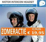 Helm intercom headset voor motor of scooter