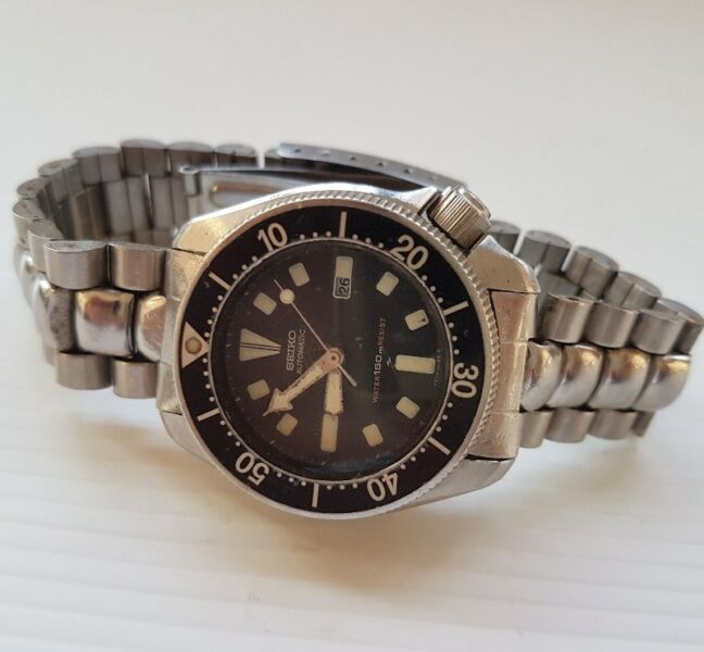 Limited Edition Boy Size, Rare Old Vintage Seiko Diver Automatic Watch, Seiko Time Corp Japan, 150 M