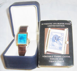 AUTHENTIC  STAMP WATCH 1954 BEAVER LIMITED EDITION