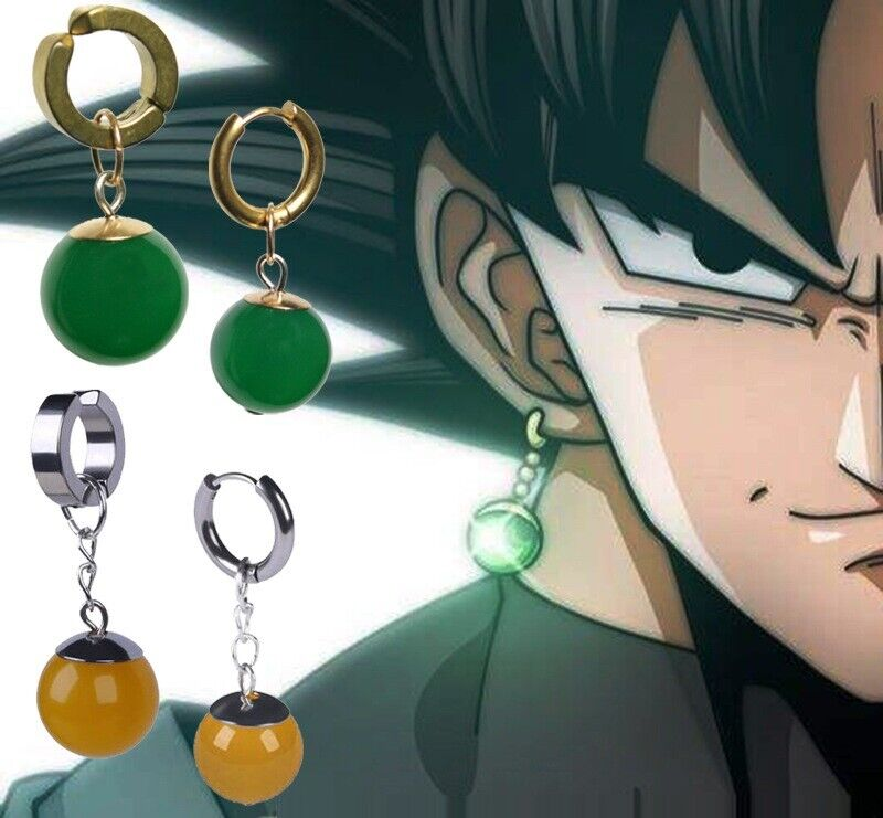 Super Dragon Ball Cosplay Earrings Vegetto Potara Black Son Goku Zamasu Ear Stud Earrings
