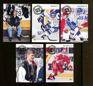 1992-93 Upper Deck Hockey High # Set w/Paul Kariya RC! Mint!