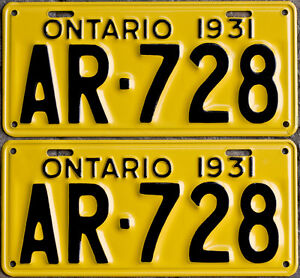 YOM Licence Plates For Your Old Auto - Ministry Guaranteed! Cornwall Ontario image 2