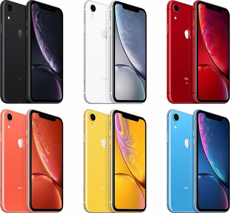 New - Apple iPhone XR 64GB/128GB for Sprint - Black/White/Ye