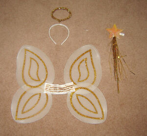 Kids Angel/Fairy Wings, Halo and Wand