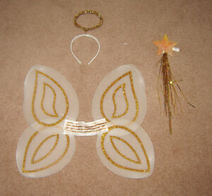Kids Fairy / Angel Wings, Halo, Wand