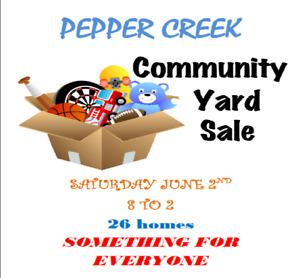 PEPPER CREEK COMMUNITY YARD SALE