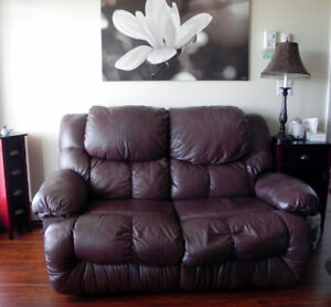 Loveseat with 2 recliners, great condition.