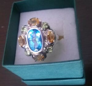 REDUCED...925 SILVER RING...MARKED