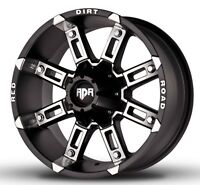 NEW 17X9 RDR WHEELS 6X5.5 AND 6X135mm BOLT PATTERN