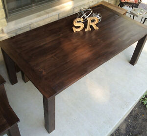 Rustic Country Chic Harvest Table with matching bench Belleville Belleville Area image 3
