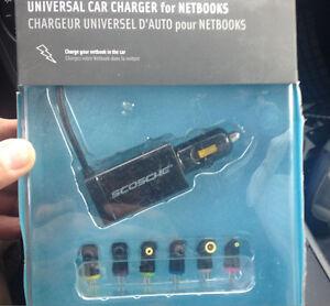 Scosche Netvolt Universal Netbook Car Charger w/ USB port - 50W