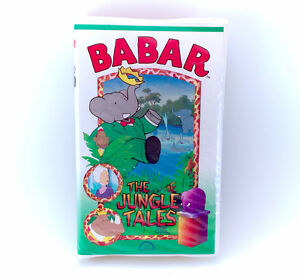 Vintage 1994 Babar Jungle Tales VHS Movie Tape Episodes Series