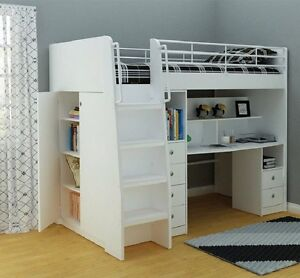 King single white loft bed SYDNEY DELIVERY & ASSEMBLY AVAILABLE Windsor Hawkesbury Area Preview