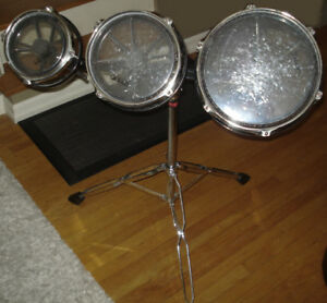 Roto Toms set of 3 drums on heavy duty stand Dixon