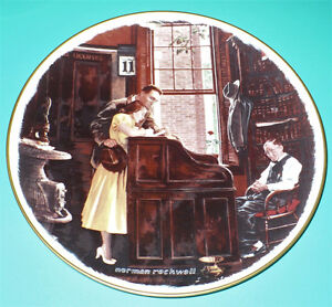 """Norman Rockwell """"The Marriage License"""" Collector Plate"""
