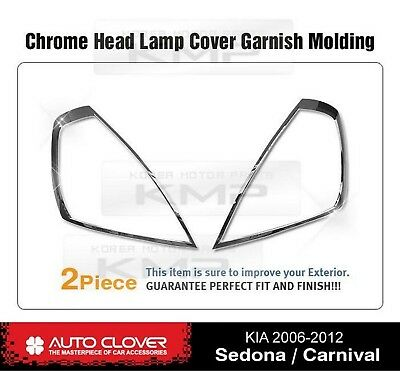 Headlight Chrome Cover Garnish Molding A390 For KIA 2006-2012 Sedona / Carnival