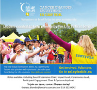 Volunteers Needed for Relay For Life Planning Committee